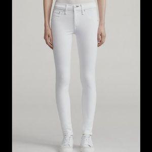 Rag & bone mid-rise white skinny jeans
